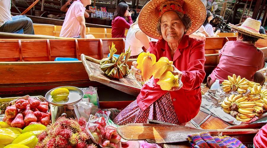 Khám phá khu chợ nổi Dameon Sadua Bangkok