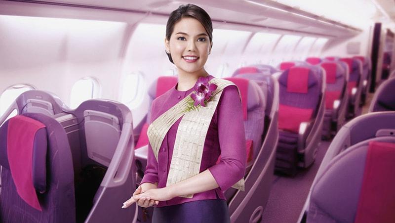 Quy định miễn cước hành lý Thai Airway tùy vào từng hạng ghế
