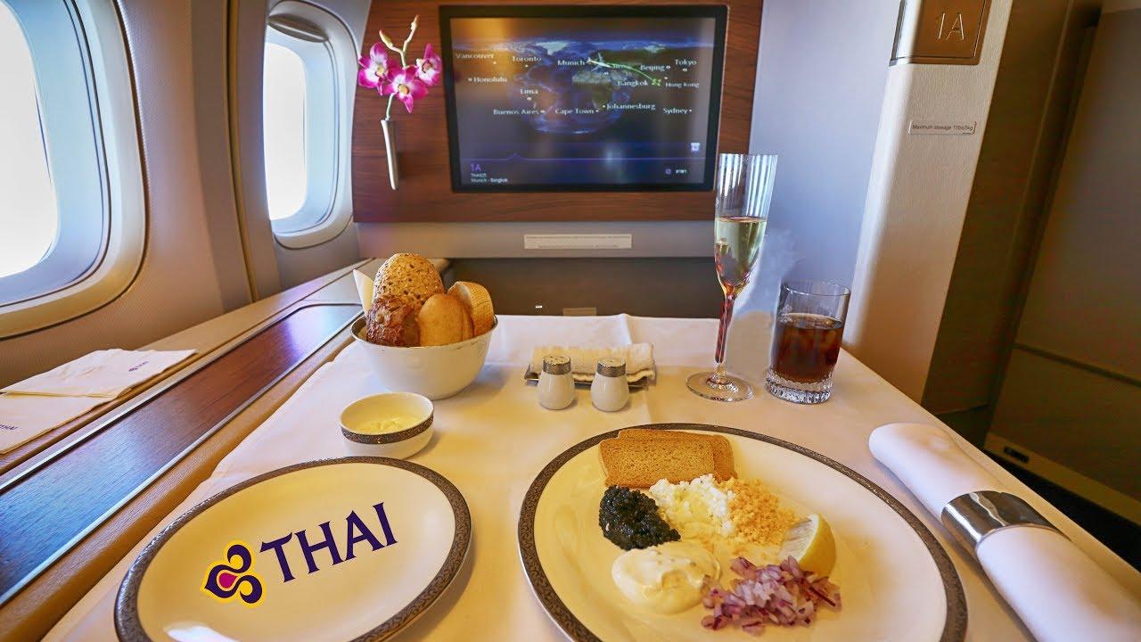 Thai Airways phục vụ chu đáo, tận tình nhiều món ngon