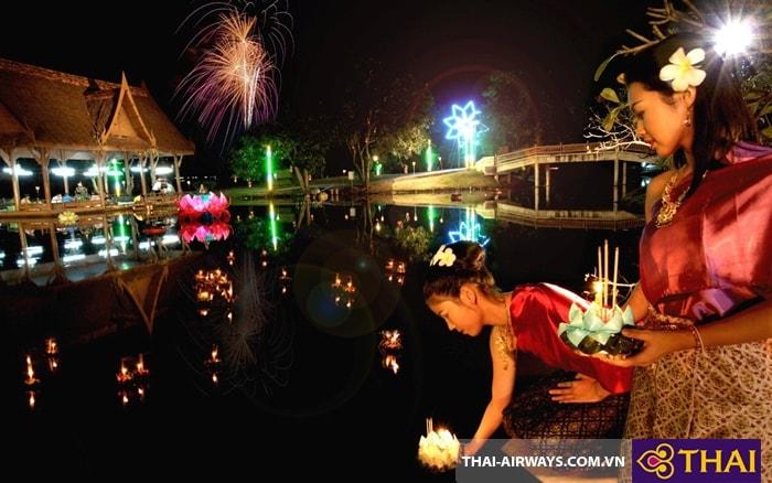 Loy krathong - Thả hoa đăng xuống dòng nước