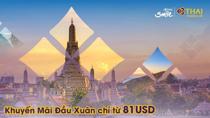 Vivu đầu xuân 2020 săn vé máy bay khuyến mãi Thai Airways